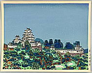 Okiie Hashimoto 1899-1993 - Himeji Castle in Spring