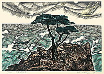 Hiroshi Tomihari born 1936 - The Noble Being in the Rough Tides