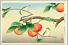 Gakusui Ide 1899-1992 - Persimmon and Japanese White Eye