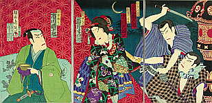 Chikanobu Toyohara 1838-1912 - The Stealing