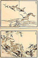Bairei Kono 1844-1895 - Crane and Woodpecker