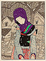 Yumeji Takehisa 1884-1934 - Snowy Night Legend