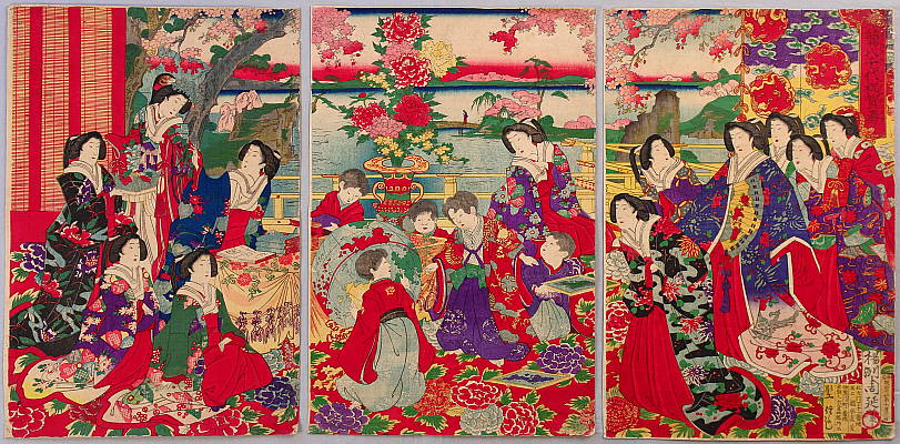 Chikanobu Toyohara 1838-1912 - The World at a Glance
