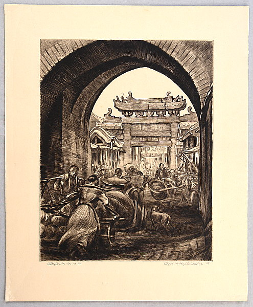 Cyrus Baldridge 1889-1975 - City Gate Tai An Fu