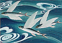 Bakufu Ono 1888-1976 - Flying Fish