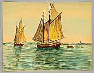 Unknown - Two sail ships