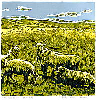 Cheng Ligen born 1975 - Sheep on the Grassland