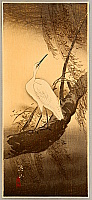 Sozan Ito 1884-? - Egret in Stormy Weather