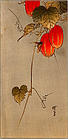 Gyosui Kawanabe 1868-1935 - Bee and Red Fruit
