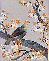 Bakufu Ono 1888-1976 - Turtle Dove and Cherry -  Collection of Japanese Flowers and Birds