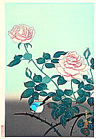 Bakufu Ono 1888-1976 - Rose and Bird