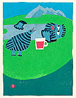 Umetaro Azechi 1902-1999 - Mounten Man and Thunder Bird