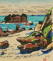 Eizo Okuse 1891-1975 - Rocky Coast