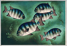 Bakufu Ono 1888-1976 - Striped Fish