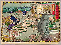Hiroshige III Utagawa 1842-1894 - Making Dried Bonito - Pictures of Products of Japan