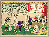 Hiroshige III Utagawa 1842-1894 - Harvesting Lacquer - Pictures of Products and Industries of Japan