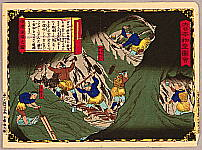 Hiroshige III Utagawa 1842-1894 - Inside of the Gold Mine  - Pictures of Products and Industries of Japan