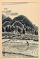 Eiichi Kotozuka 1906-1979 - Rice Paddies in Northern Kyoto