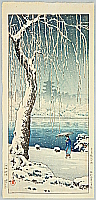 Koitsu Tsuchiya 1870-1949 - Sarusawa Pond in Snow