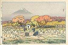Hiroshi Yoshida 1876-1950 - Autumn - Ten Views of Mt. Fuji