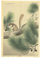 Bakufu Ono 1888-1976 - Squirrel on a Pine Tree