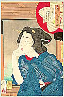 Yoshitoshi Taiso 1839-1892 - Cool - Thirty-two Aspects of Customs and Manners of Women