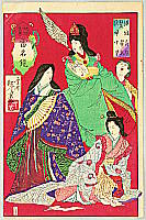 Toshimoto Suzuki fl.ca. 1880-90s - Three Famous Ladies