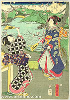 Fusatane Utagawa active ca. 1850s-80s - Early Spring