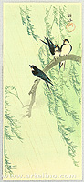Sozan Ito 1884-? - Barn Swallows and Willow