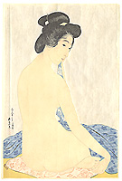 Woman after a Bath - By Goyo Hashiguchi 1880-1921