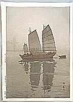 Sailing Boats in the Mist - Hiroshi Yoshida