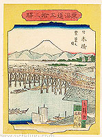 Hiroshige III Utagawa 1842-1894 - Nihonbashi - 53 Stations of Tokaido