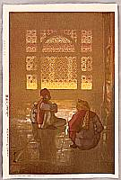 Hiroshi Yoshida 1876-1950 - A Window in Fatehpur-Sikri