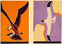 Hisui Sugiura 1876-1965 - Eagle and Seagull - Collection of Creative Designs by Hisui