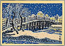 Eiichi Kotozuka 1906-1979 - Sanjo Bridge in Snow