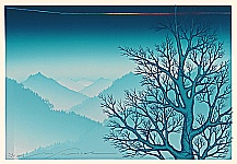 Masahiko Doh born 1930 - Mountains in Early Evening