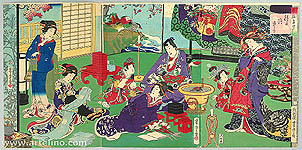 Yoshitora Utagawa active ca. 1840-1880 - Banquet - Imayo Genji