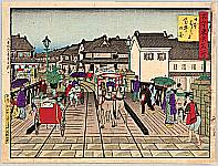 Hiroshige III Utagawa 1842-1894 - Kokon Tokyo Meisho - Nihonbashi
