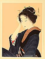 Eiho Hirezaki 1881-1968 - Adjusting Hair Comb