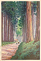 Yuhan Ito active 1930s - Avenue of Cryptomeria in Nikko