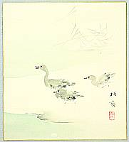 Baisai Kano 1883-1969 - Geese and Falling Snow