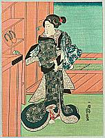 Yoshitora Utagawa active ca. 1840-1880 - Beauty from Public Bath