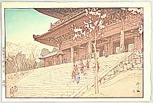 Hiroshi Yoshida 1876-1950 - Chion-in Temple Gate - Eight Scenes of Cherry Blossoms