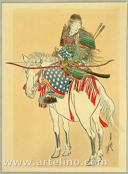 Gekko Ogata 1859-1920 - Tomoe, the Female Warrior
