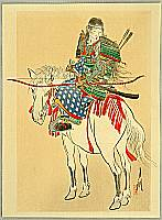 Tomoe, the Female Warrior - By Gekko Ogata - 1859-1920