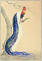 Bakufu Ono 1888-1976 - Long Feathered Rooster