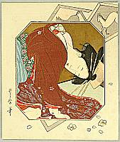 Utamaro Kitagawa 1750-1806 - Sleepy Beauty
