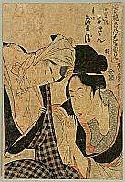 Utamaro Kitagawa 1750-1806 - Osan and Mohei - True Feelings Compared