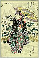 Toyokuni Utagawa 1769-1825 - Kabuki Actor and Mt. Fuji
