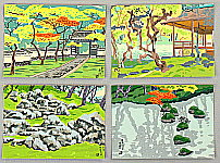 Nisaburo Ito 1910-1988 - Four Postcards with Original Wrapper